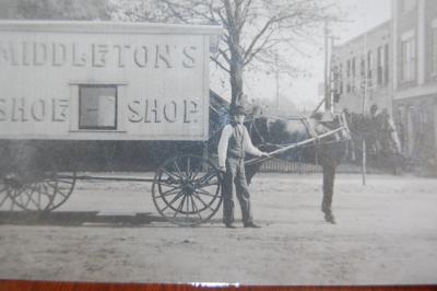 James Middleton with his Shoe Shop wagon in Camilla around 1920.  The new exhibit will open virtually on ABAC's Georgia Museum of Agriculture website on June 1.
