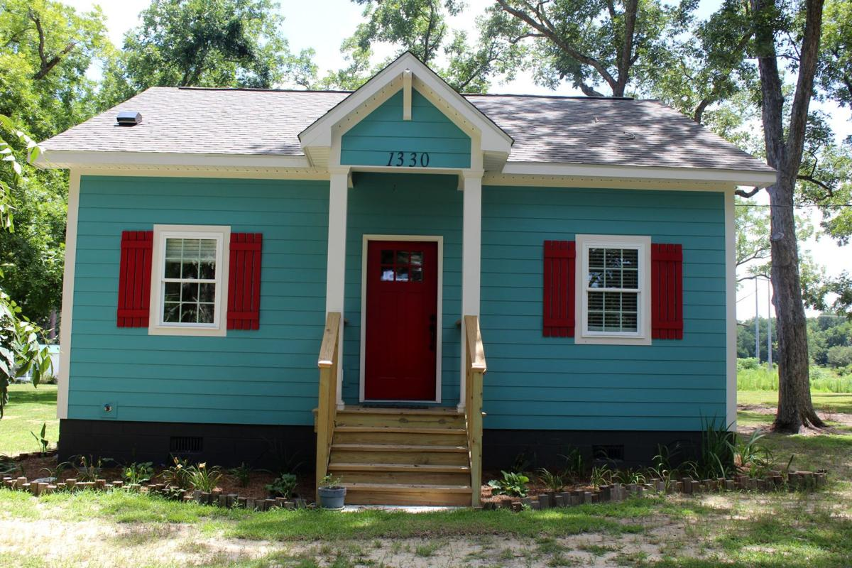 The little blue house, located on Whiddon Mill Road, is a 700 square foot cottage.