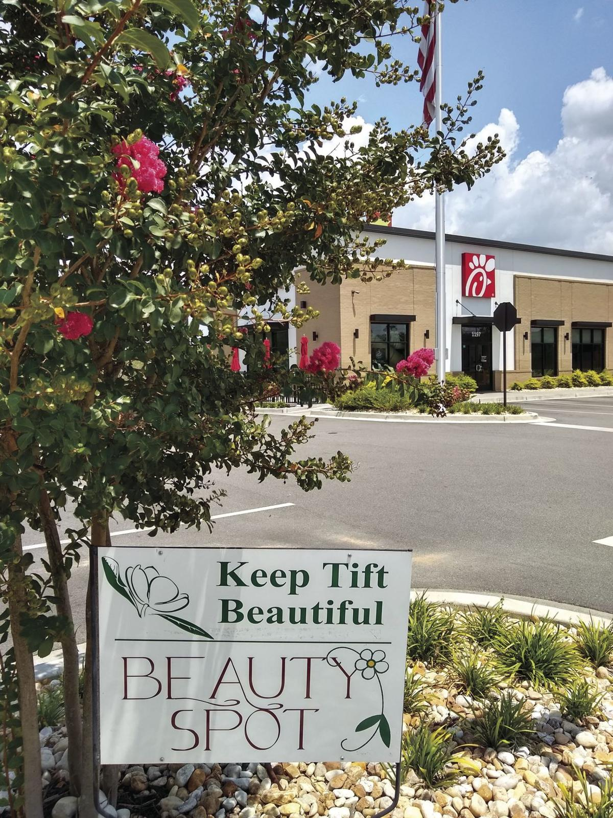 Keep Tift Beautiful is recognizing Chick-fil-A at 1197 GA-50 W., Hwy 82, Tifton as the commercial Beauty Spot winner.