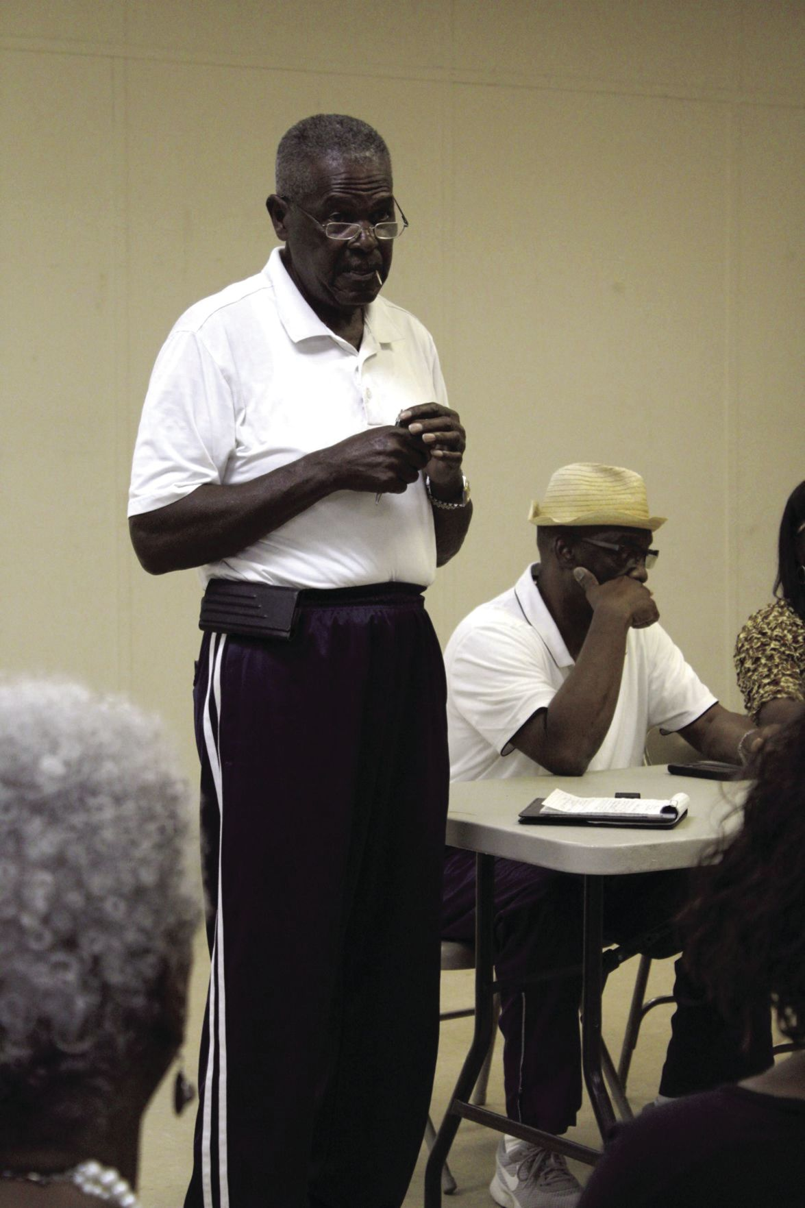 John Smith speaks at a June 3 meeting about his opposition to a recycling plant being added to Martin Luther King Jr. Drive.
