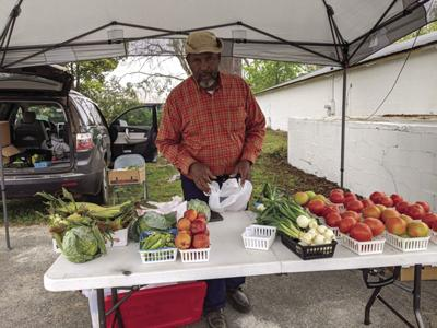 Jerome Powell, proprietor of Uncle Buddy's Produce, said business was fairly steady.