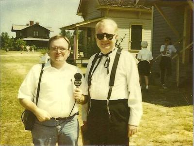 David Haire, WTIF correspondent, with Al Cohen.