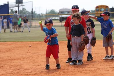 Having a ball at Panther baseball camp