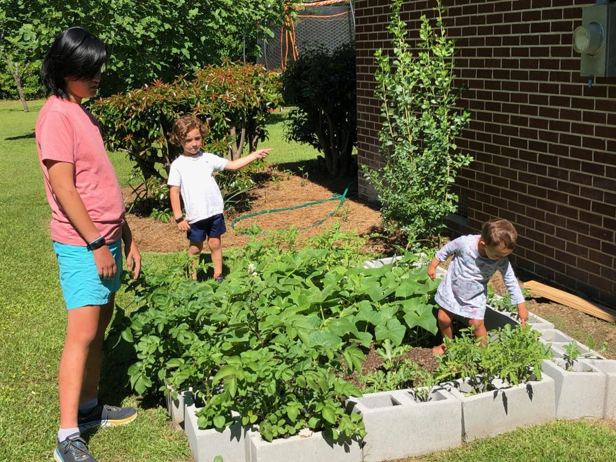 One of the ways to celebrate Garden Week in Georgia was families planting vegetable gardens at their homes.