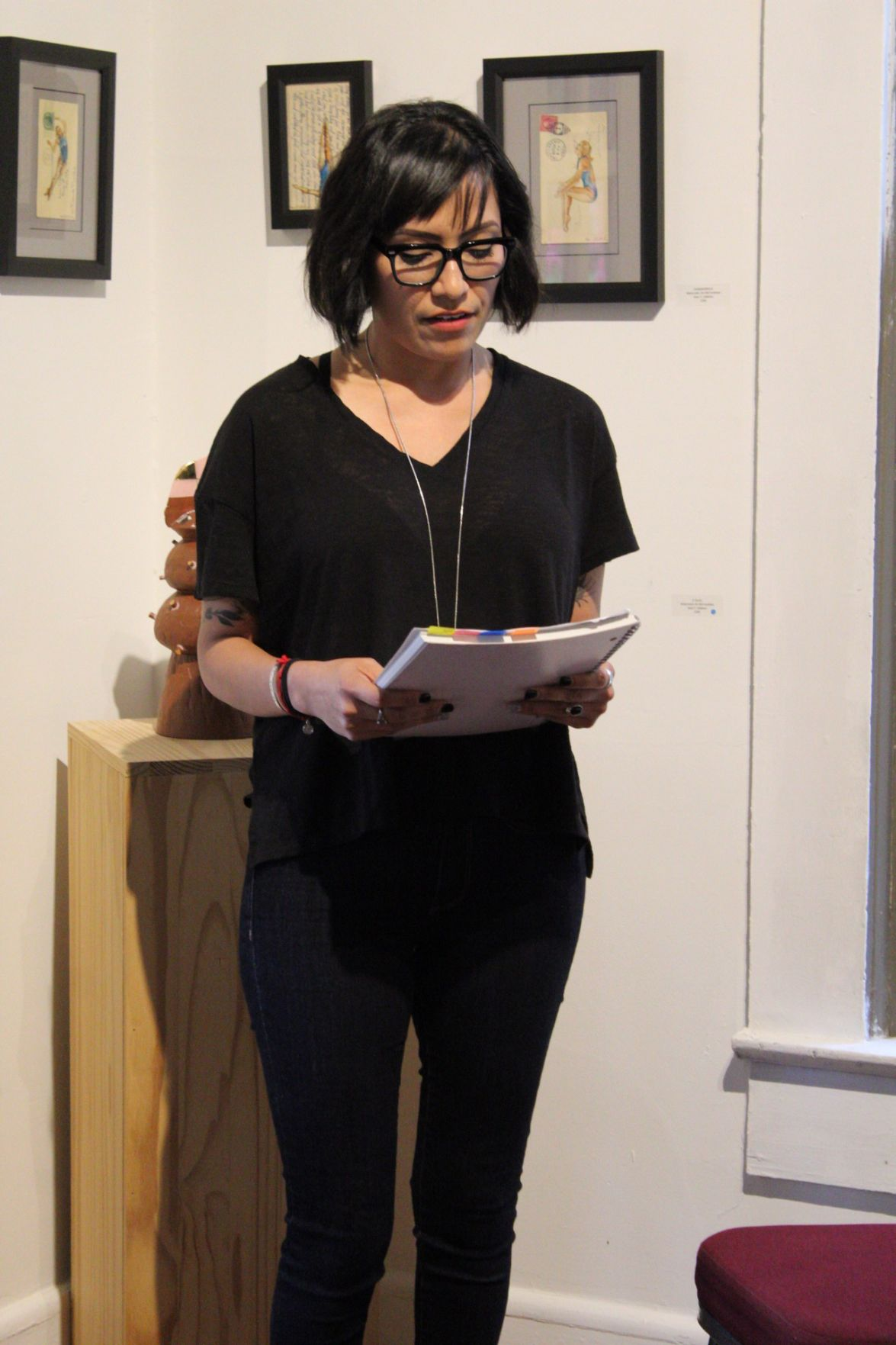 Alma Young reads a letter that was sent by a detainee in Irwin County Detention Center.