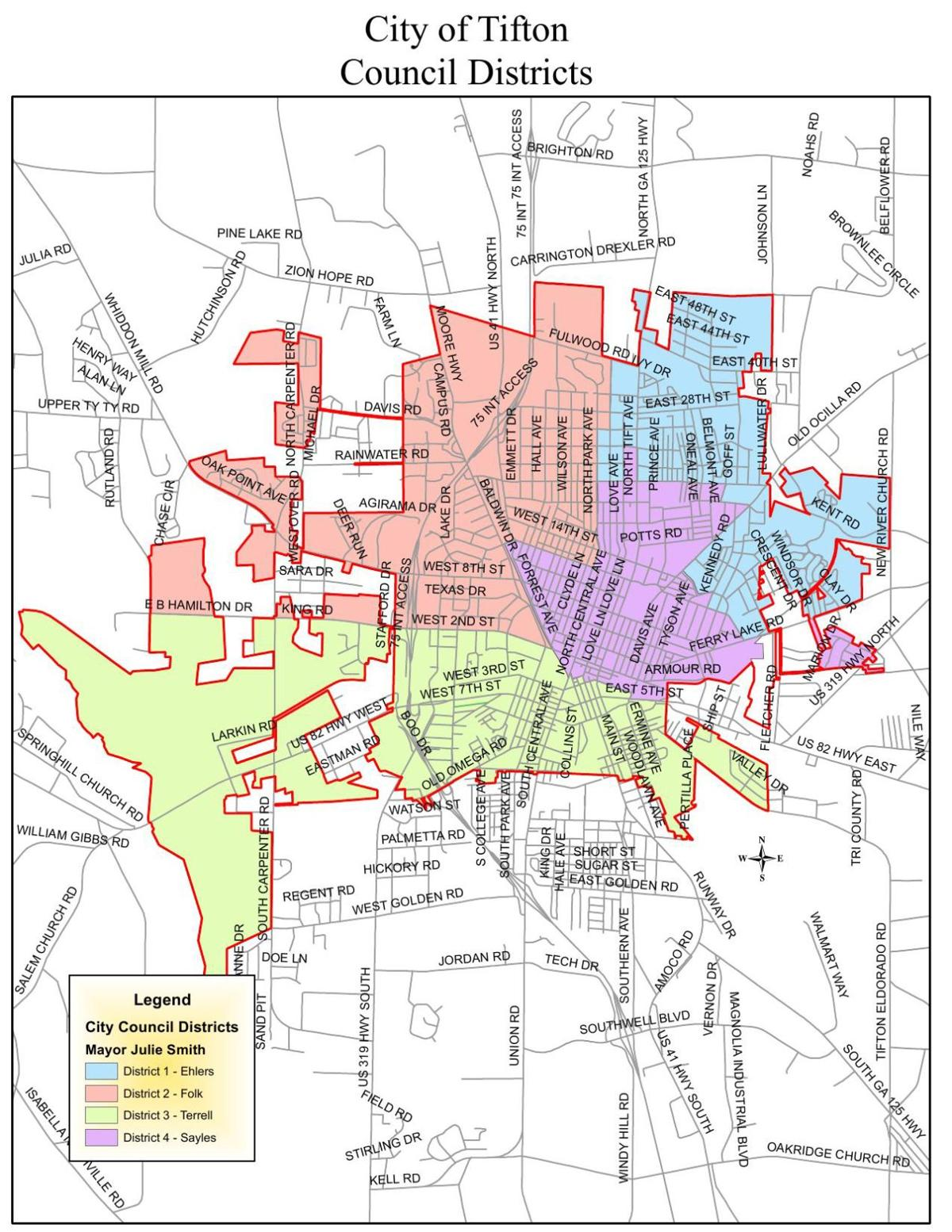 Tifton District Map Tiftongazette Com