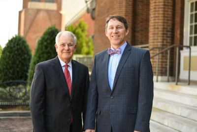 John Prince III was recently named chairman of Synovus Tifton Local Board of Advisors. Prince, left, is pictured here with Tifton Market President Jason Morris.