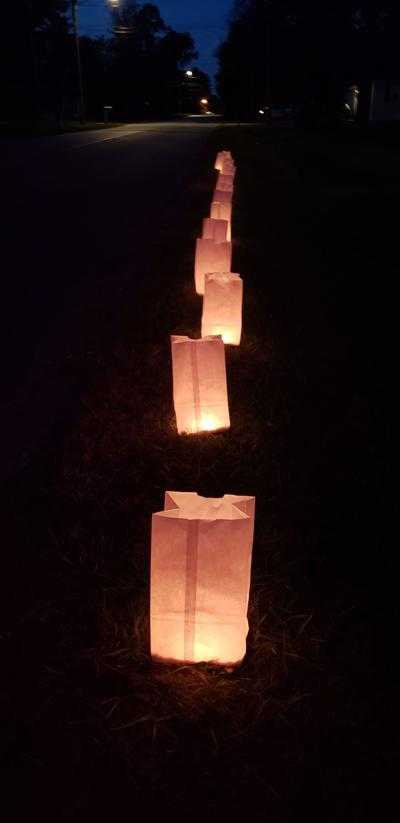 White luminaries line the streets of Tifton during Go Light Up Your World.