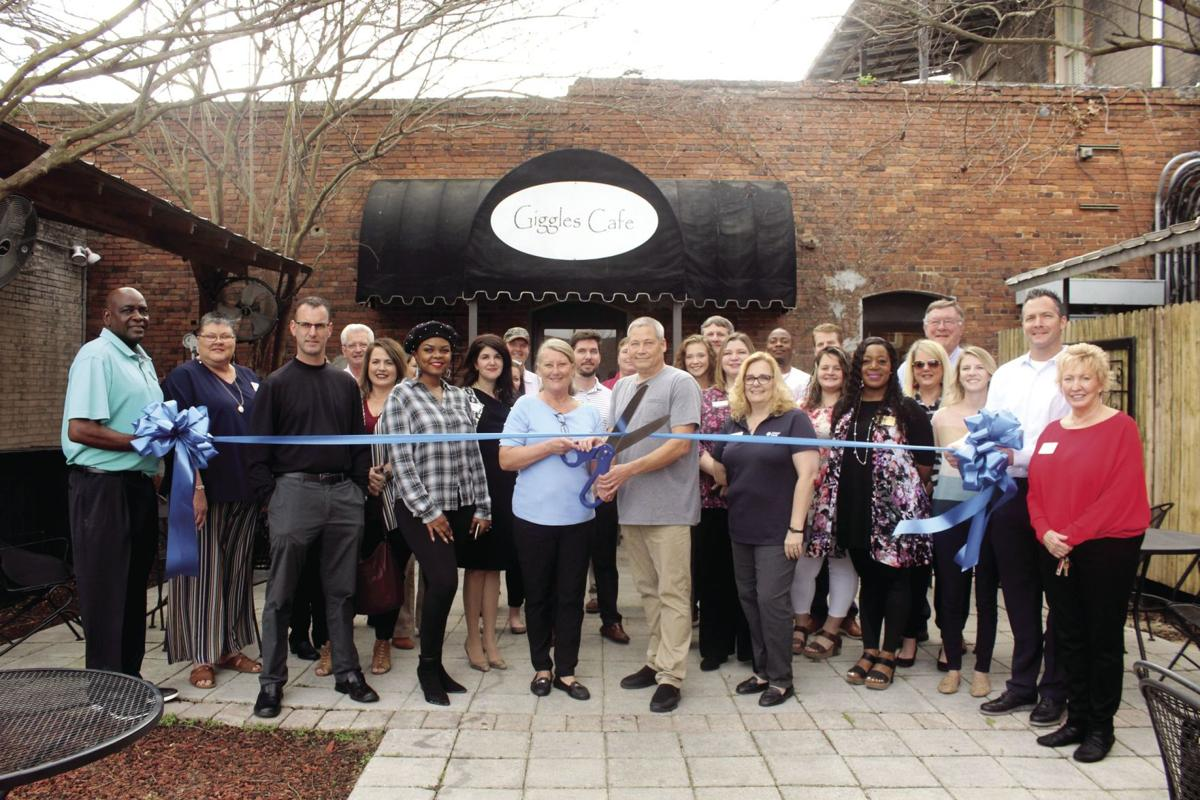 Giggles Cafe held a ribbon cutting to celebrate its reopening on Feb. 13.
