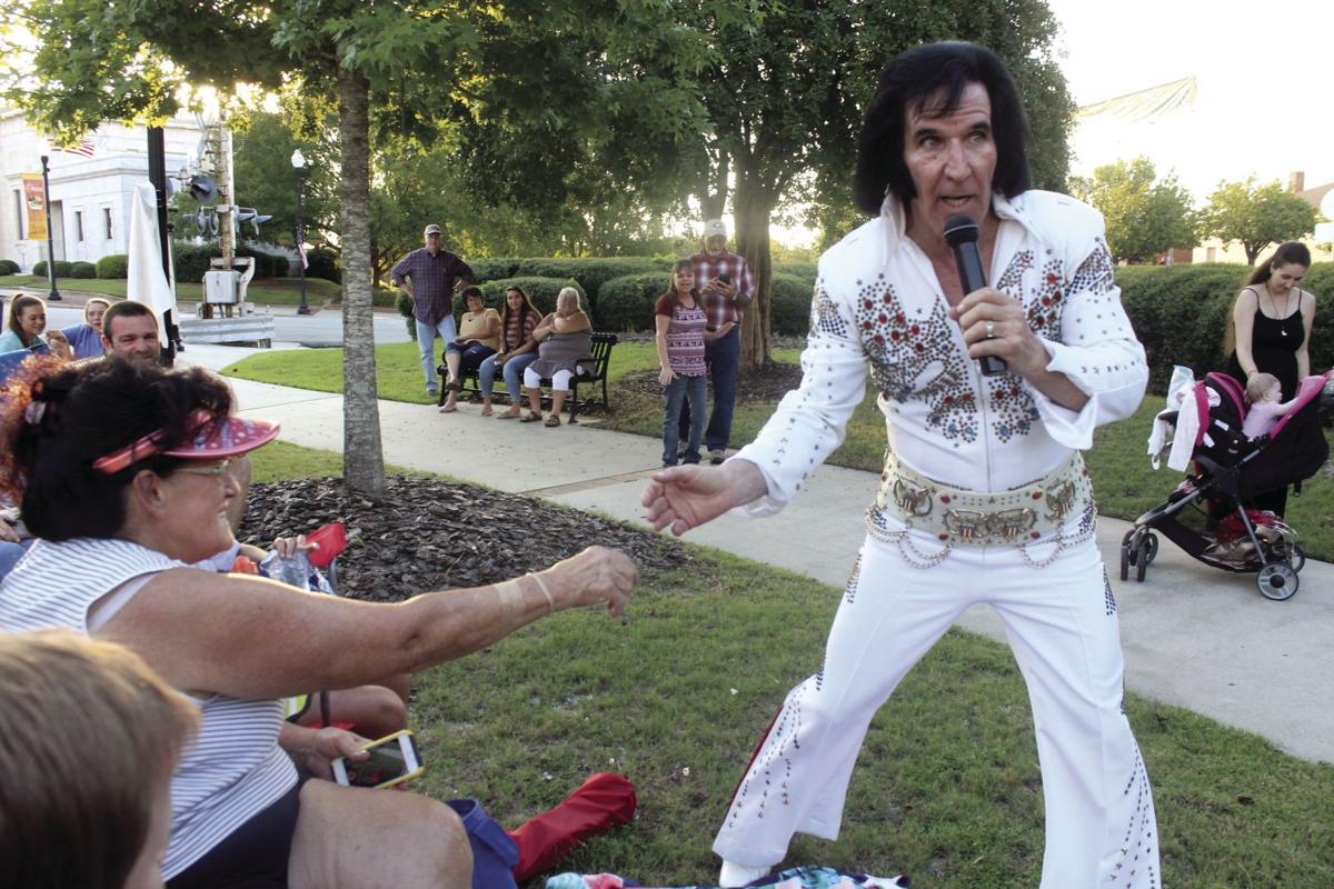 Elvis tribute artist Jeff Vendenberg performed at the Elvis Tribute Festival on Aug. 16.