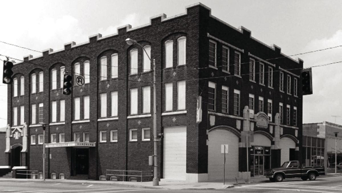 The Golden Building, circa 1984. This photo was taken by James Lockhart as part of the application to designate Tifton's commercial district part of the National Register of Historic Places.