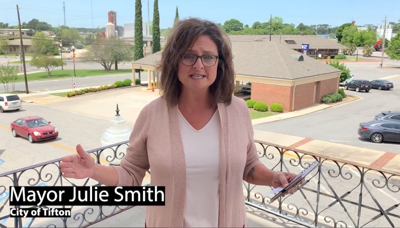 Tifton Mayor Julie Smith put out a video on social media urging residents to keep following the recommendations in place to help halt the spread of COVID-19.