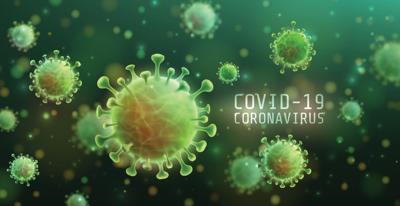 Green COVID-19 virus image