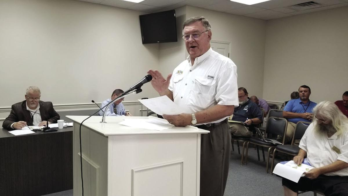 Tyron Spearman, executive director of the Tifton-Tift County Tourism Association, talks to the board about his proposal to raise the hotel/motel tax.