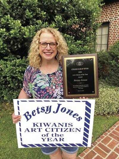 Betsy Jones was recently named the Kiwanis Arts Citizen of the Year.