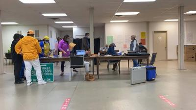 On the 2020 Election Day Tift County Poll Workers worked until late tabulating votes