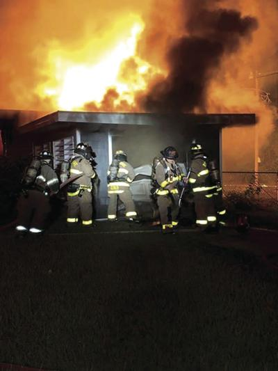 A bystander captured this photo of the Branch Street house fire on Oct. 2.
