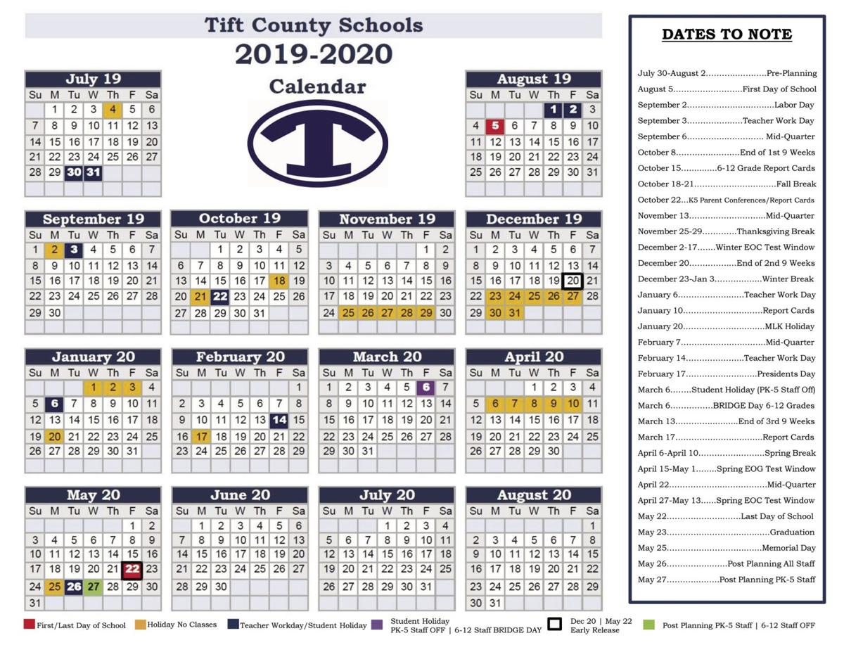 School board approves school calendars for 2019 through 2021