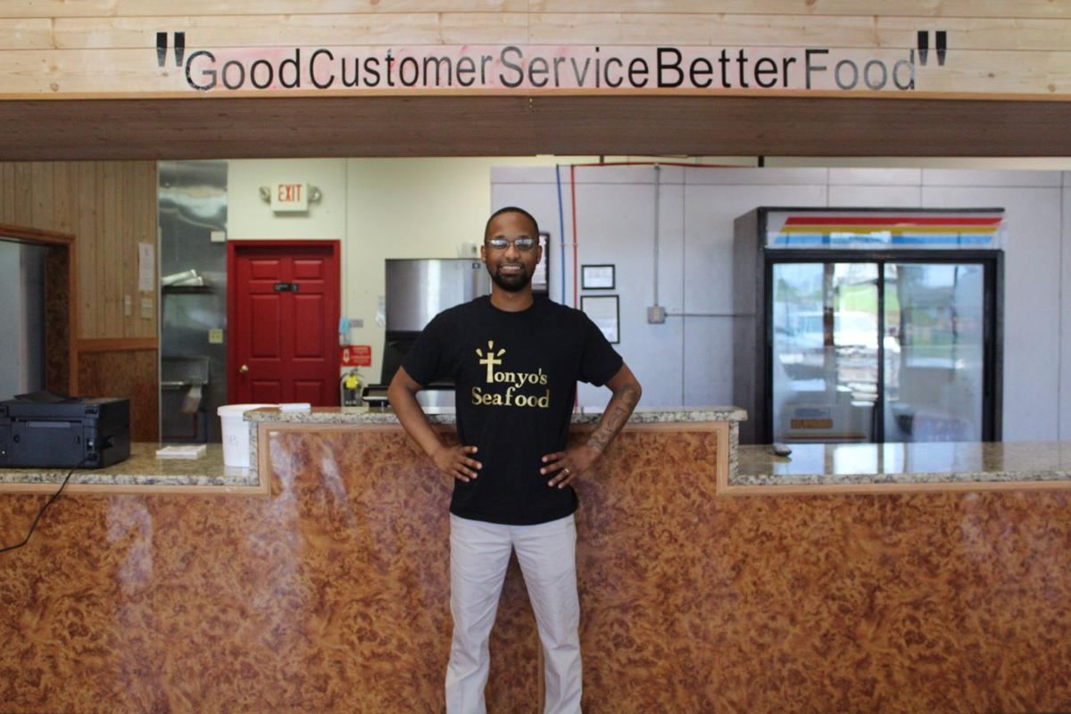 """Kristan """"Tony"""" Woods opened a new restaurant on South Central Avenue called Tonyo's Seafood."""
