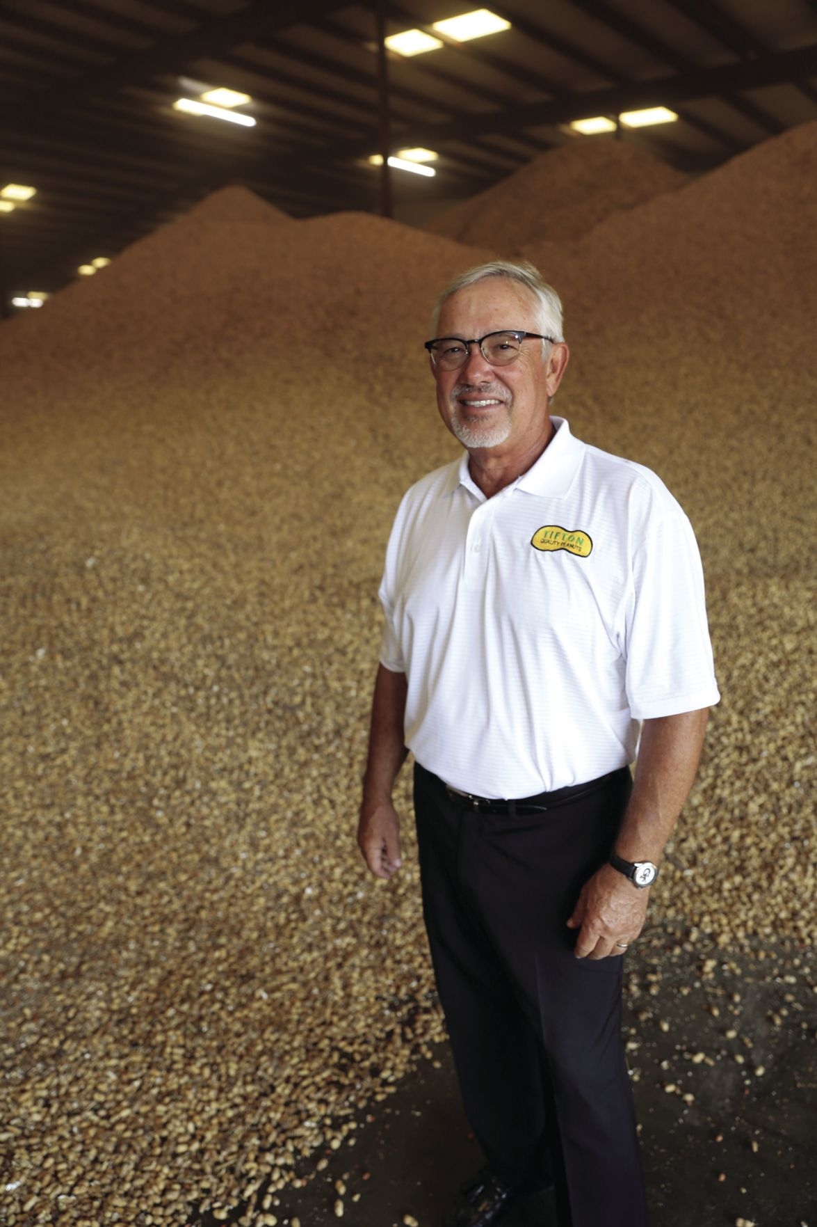 Bill Park with a few of the peanuts that Tifton Quality Peanuts processes.