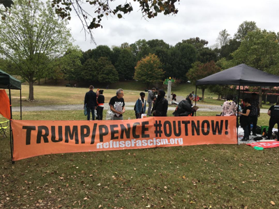 Trump/Pence OutNow protest in Atlanta