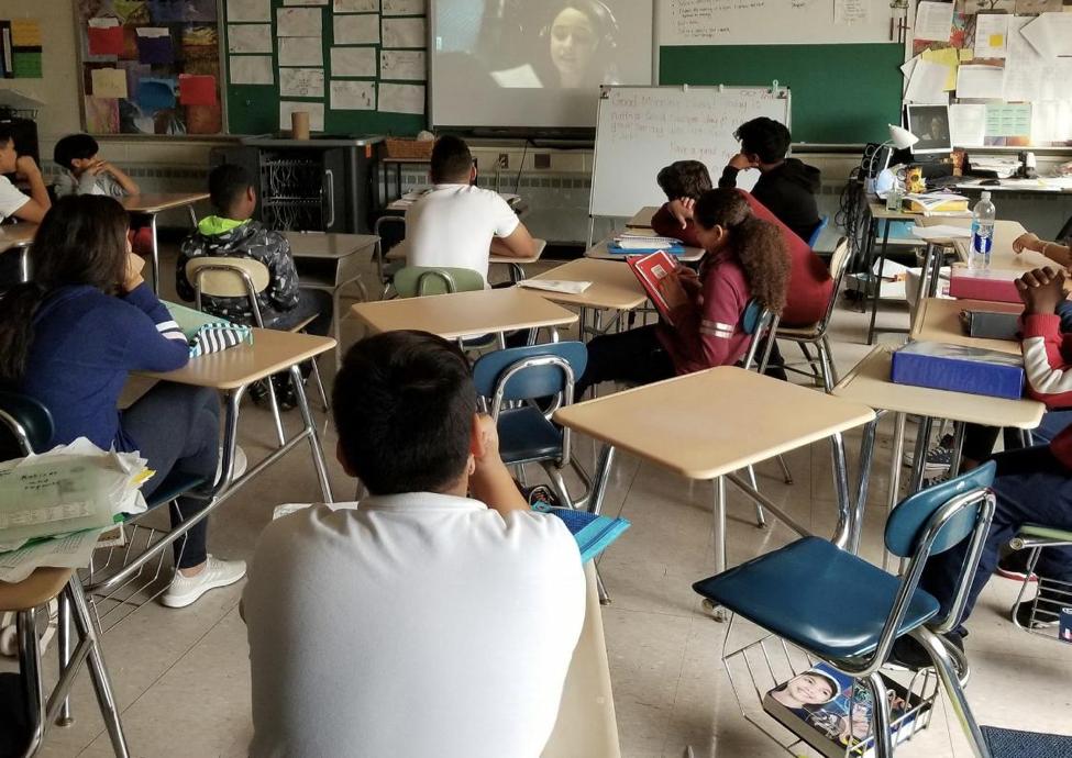 Children sitting in classroom