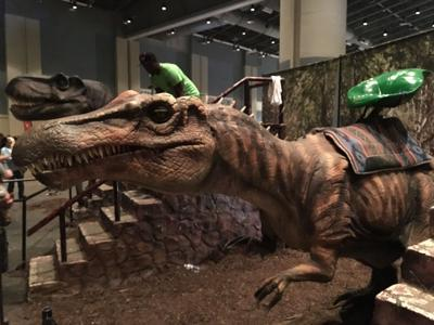 Dinosaurs invade the City of Savannah