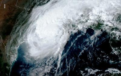 Hurricane Delta Satellite
