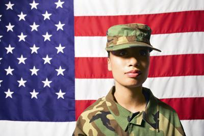 Woman military veteran