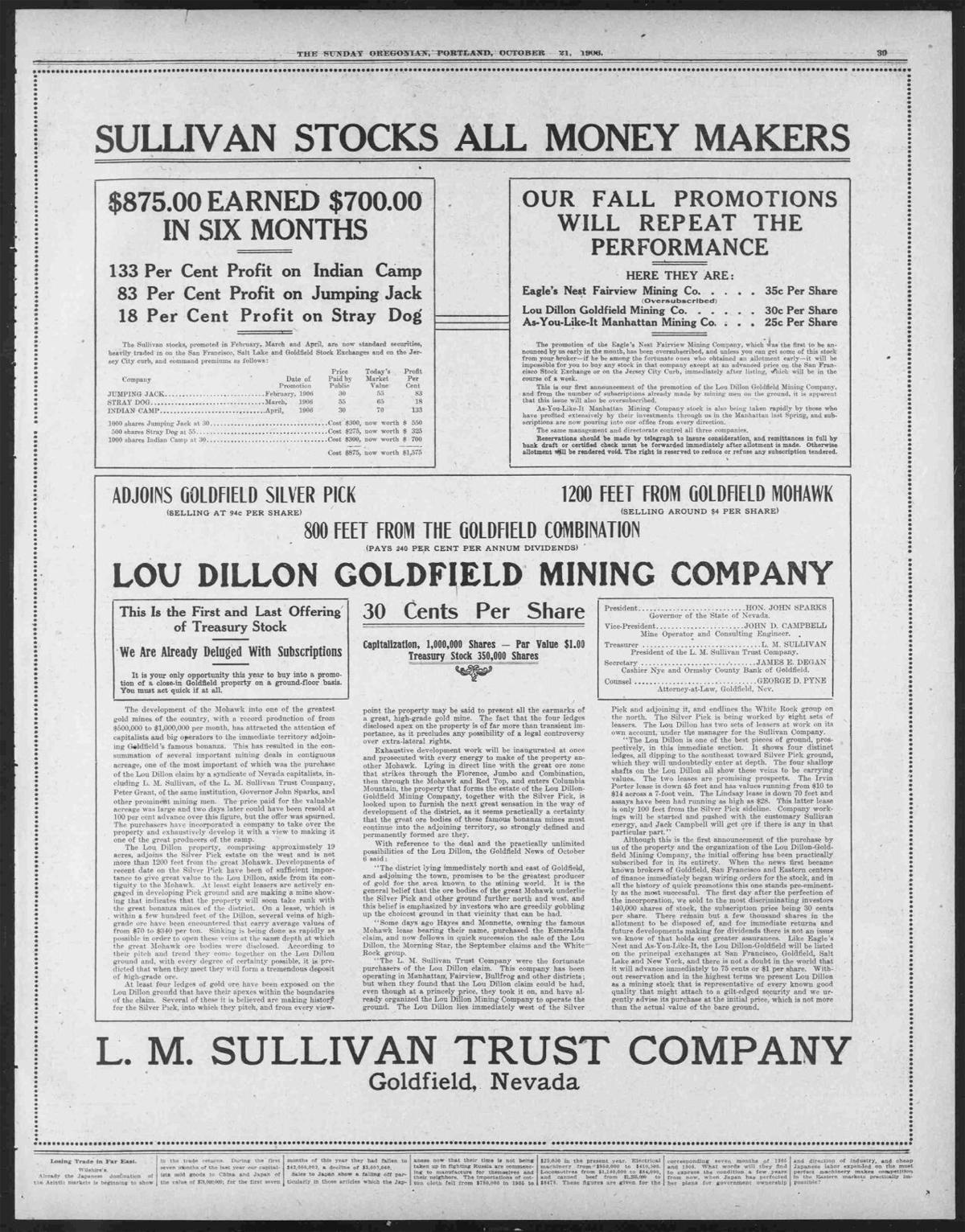 The Sunday Oregonian. (Portland, Or.) 1906-10-21 [p 39].