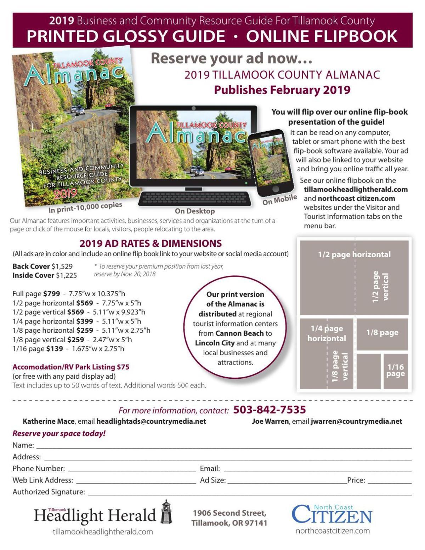 2019 Almanac Flyer