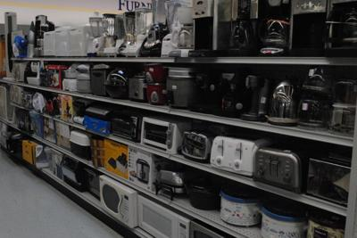 the shelves are full at the Tillamook Goodwill