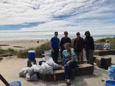 This group helping out at  Microplastic cleanup in 2018 netted 70 punds of debris_photo_Kate  Eskew.jpg