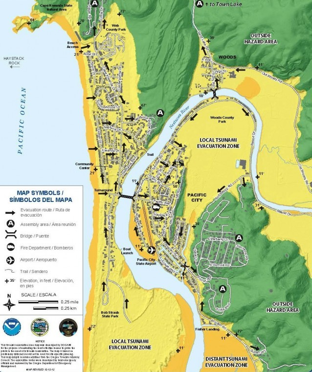 Download the new tsunami evaucation maps for Pacific City Sand