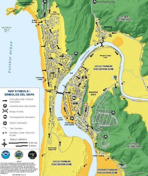Download the new tsunami evaucation maps for Pacific City ... on map of grand rapids mi, map of cannon beach, map of florence, map of lewes, map of medford, map of pacific city, map of venice ca,