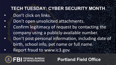 Tech Tuesday: Cyber Security Awareness Month