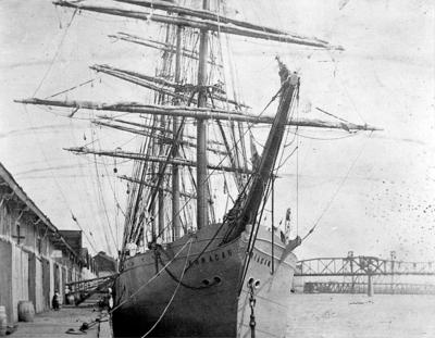 The four masted barque Arracan
