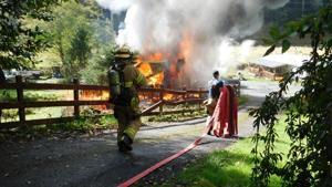 Agencies respond to shop fire, no injuries