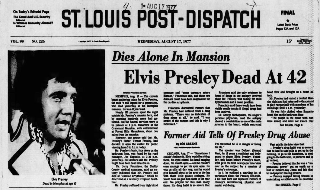 Headlines: Elvis Presley's Death | Archives | timegoggles.com