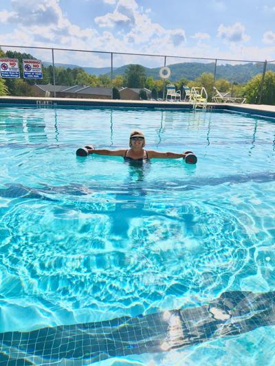 Water aerobics teacher's joyful spirit is contagious
