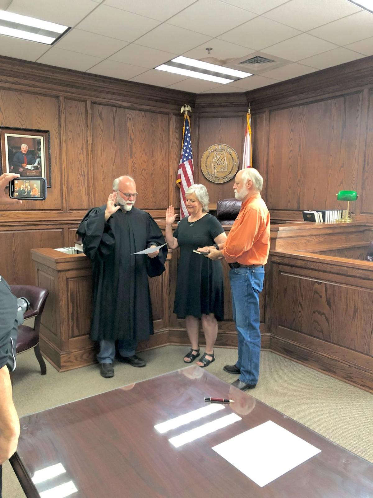 Board of registrars sworn in last week