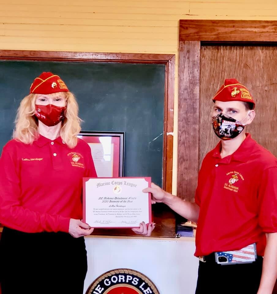Marine Corps League presents Marine, Associate of the Year awards at October meeting
