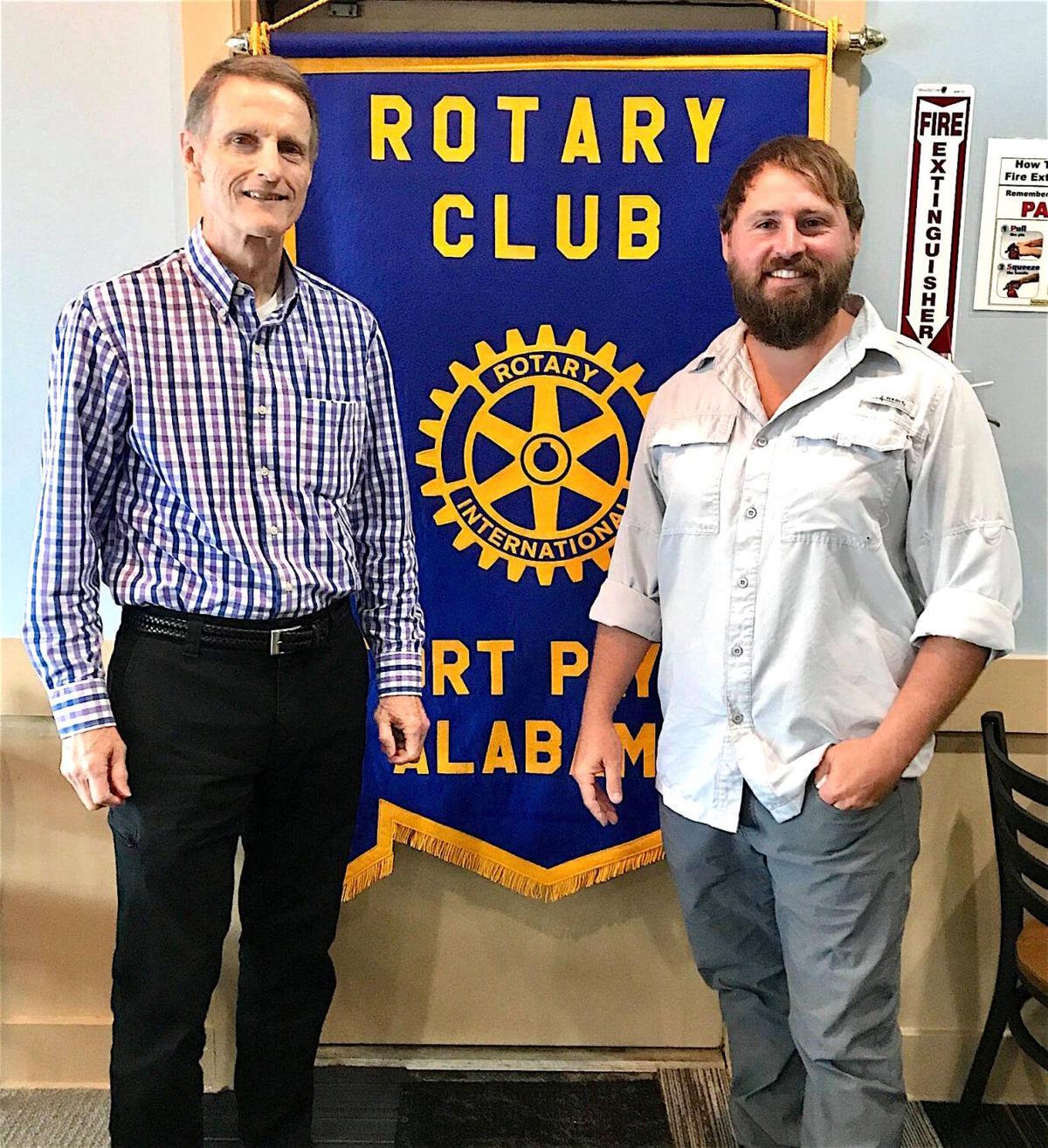 Rotary hosts Jonathan Abernathy of Jubal-Lee Farms