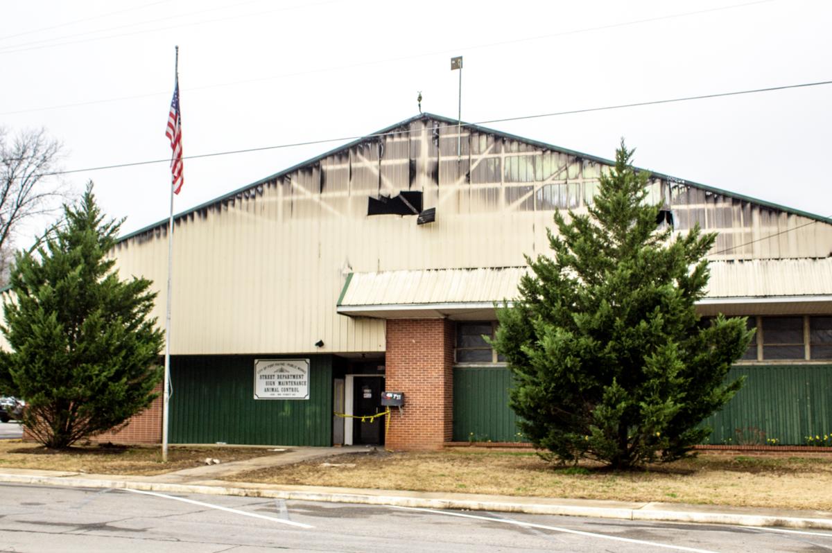 Public Works building burns