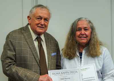 Sigma Kappa Delta recognizes NACC's Joan Reeves for 25 years of service