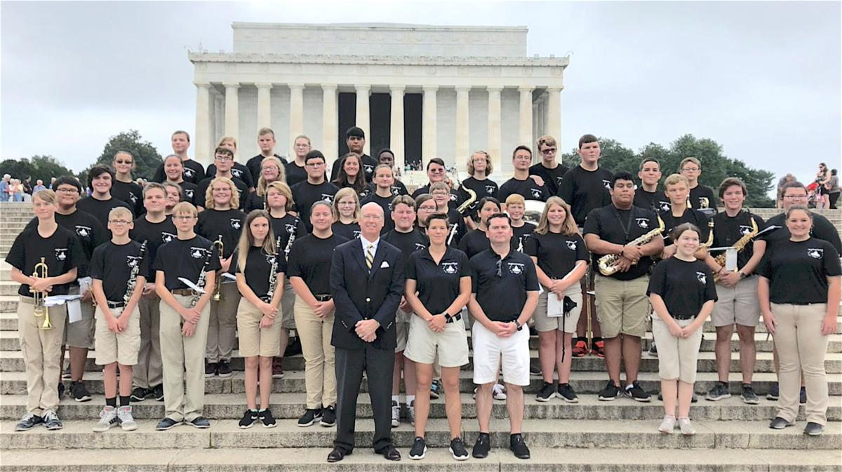 Local high school bands play in Washington, D.C.