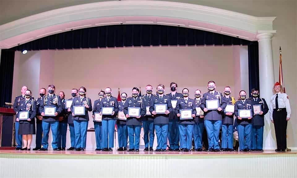 JROTC Cadets honored for 290 hours of volunteer work for local Marine Toys for Tots campaign