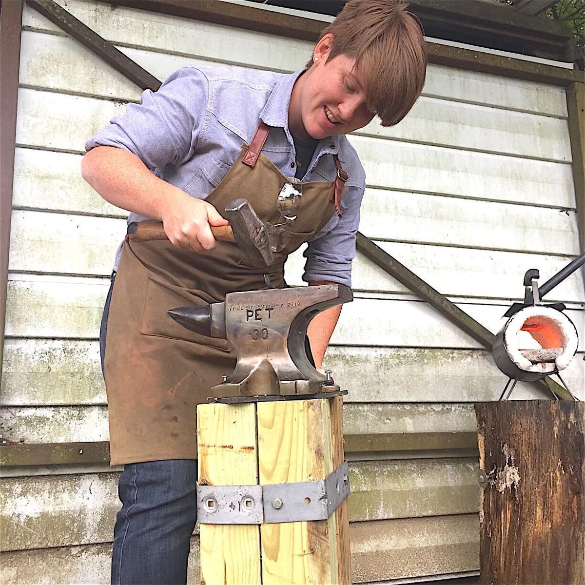 Female blacksmith breaks the mold