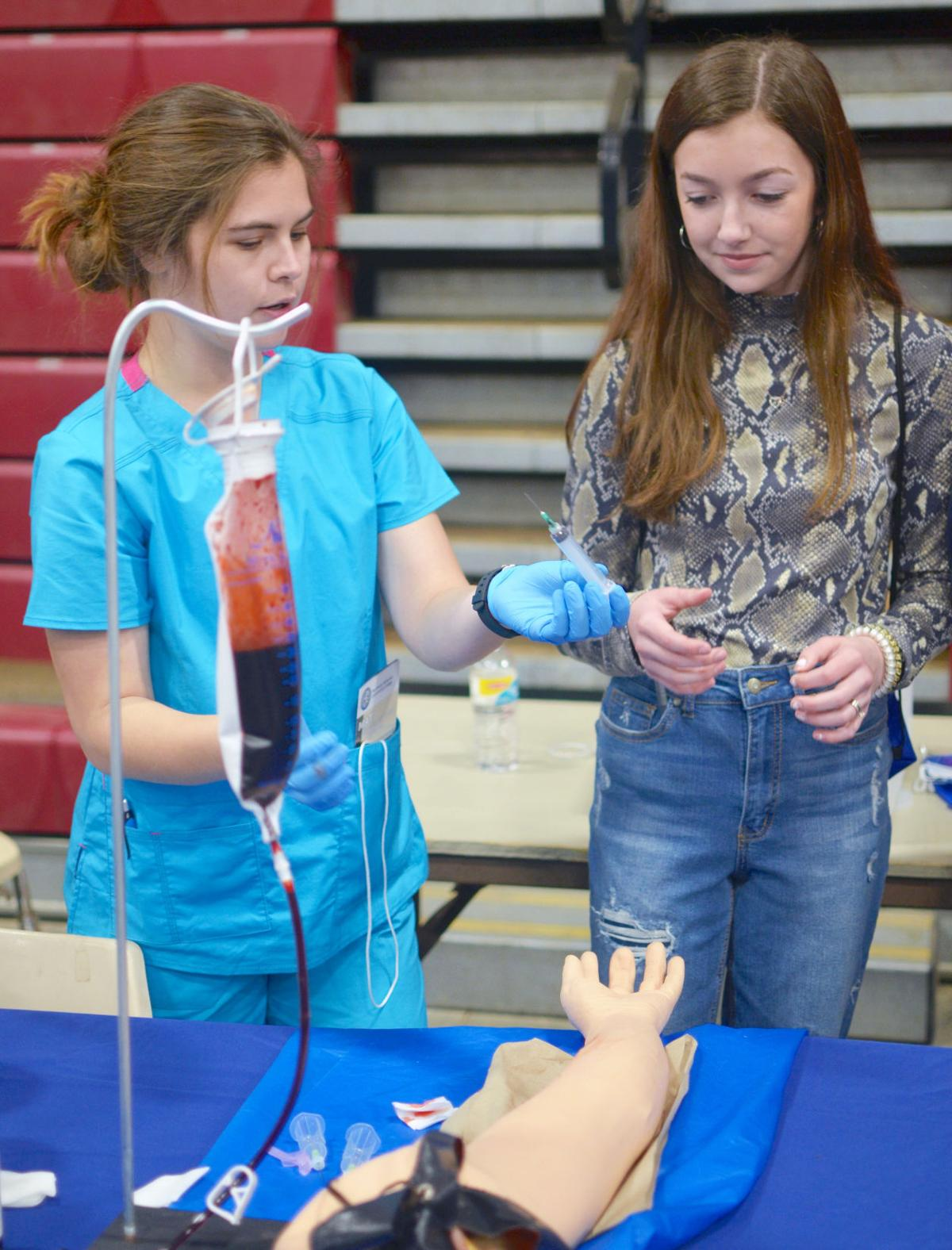 Students network at Made in DeKalb expo
