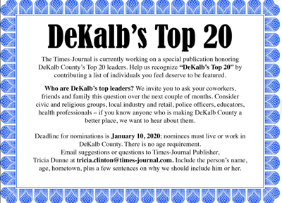 Who are DeKalb County's top leaders?